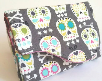Sugar Skulls - Handmade Small Business Card and Gift Card Case