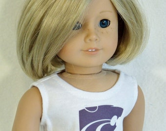American Made 18 inch Doll K-State Power Cat Graphic Crop Top