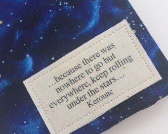 """Passport Cover Luggage Tag Set, Kerouac quote,  luggage tag set """" there was nowhere to go but everywhere"""" Passport Wallet"""