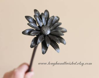 Gerber Daisy Flower, Gerbera, Metal Flower, Iron Anniversary Gift, 6th Wedding anniversary, Iron Flowers, Steel flowers, Gifts for her