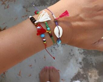 Beaded Friendship Bracelets. Gifts Under 15. Delicate Charm Bracelets.Boho Bracelet. Friendship Bracelet. Hippie Bracelet. Womens Gift.