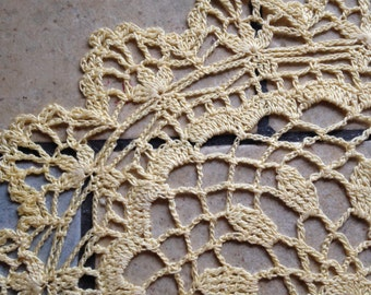 Large Yellow Doily