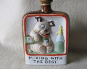 Antique German Whiskey Flask , Mixing With The Best by Schafer Vater