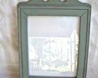 Vintage Wooden Handmade Painted Solid Wood Frame Handmade Vintage Home and Living Home Decor Photo Frame Wallhanging Decor Early Eighties
