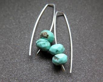 green chrysoprase earrings. sterling silver gemstone jewelry. rustic stone jewellery
