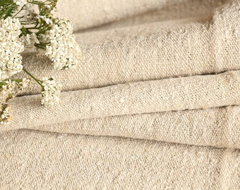 C 383 : antique handloomed 4.26 yards french 리넨  upholstering curtain projects PALE OATMEAL