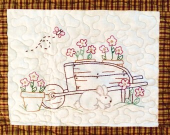 Fresh Flowers for Seasons embroidery quilt Pattern