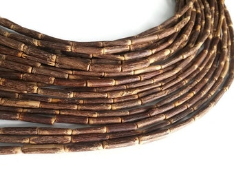 "Sigid Vine Wood Tube Beads - Eco Friendly Tube Beads 17mm - 16"" strand  (PC223A)"