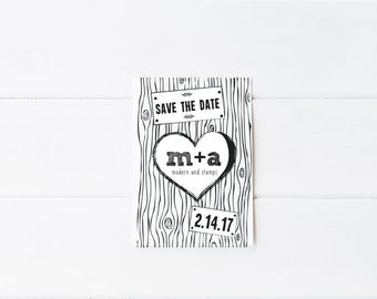 Custom Wedding Stamp   Save the Date Stamp   Custom Rubber Stamp   Custom Stamp   Personalized Stamp   Woodgrain Save the Date   Rustic   D2