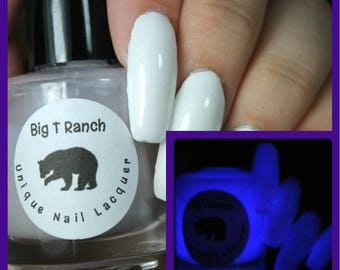 Glow-in-the-Dark Nail Polish - Purple - Milky Way - Custom Blended Nail Polish/Lacquer - Regular Full Sized Bottle (15 ml size)