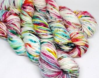 Big Rad Bulky - Hand Dyed Speckled Yarn - SW Merino/Nylon - 75 Yards - Graffiti