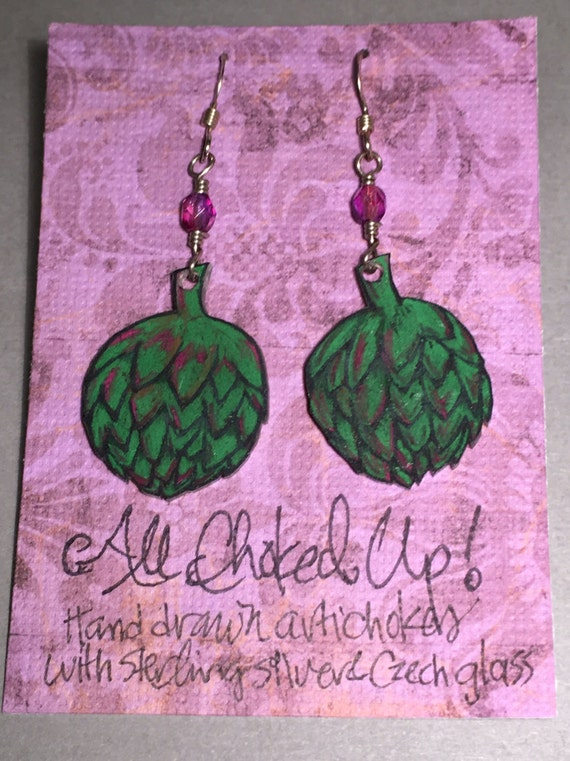 """Earrings """"All Choked Up"""""""