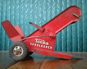 Tonka Sandloader Vintage Pressed Steel Toy Conveyer Tow Behind