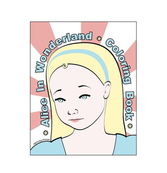 Alice in Wonderland Coloring Book Printable File