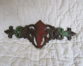 Vintage Drapery Metal Bracket Decorative Piece