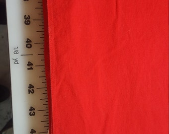 Vintage true Red Cotton Chambray weight 2-1/2yd