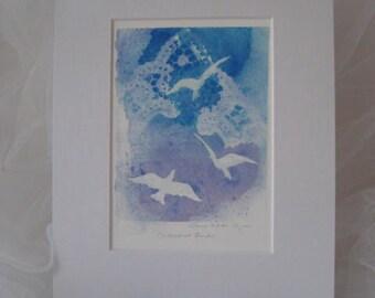 "Spiritual Art, Watercolor Dove Art, Gift for Her, 8"" x 10"" Art"