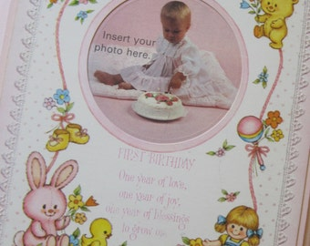 Sweet Vintage 1979 Hallmark Baby Plaque for a Photo