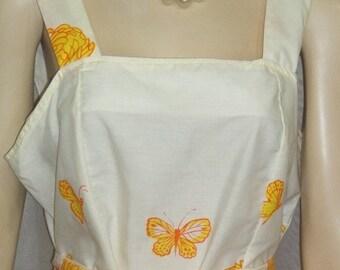 ON SALE Vintage 1960's Rachelle Butterfly Dahlia Sundress Dress Medium Large