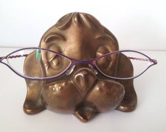 Vintage Ceramic Doggie Eye Glasses Holder