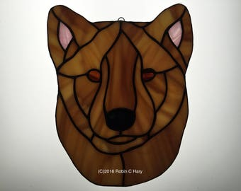 Jindo Suncatcher in Stained Glass