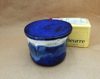Pottery French Butter Dish, French Butter Crock, French Butter Keeper, Butter Ball, Butter Dish, Kitchen Butter Server, Ceramic Handmade