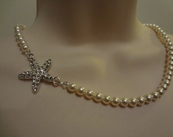 Starfish necklace Wedding Jewelry beach theme bridesmaid necklace