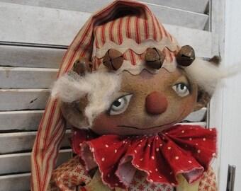 EPATTERN - Elvin Elf primitive folk art christmas doll epattern