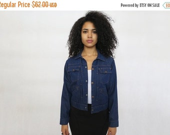 30% off SPRING SALE The Vintage Dark Wash Heritage Workwear Denim Jacket