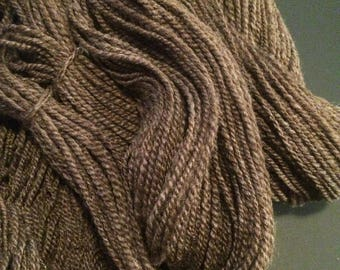 Hand Spun Yarn, Worsted Weight Yarn, Natural Color Alpaca 2Ply Yarn, Aran Weight Yarn, 294 Yards