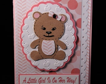 Teddy Bear Baby Girl Card
