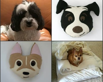 Custom Dog Pillow - Personalized Dog Pillow - Dog Lover Gift - Caricature Dog Pillow - Kids Room Decor - Nursery Decor - Cashmere dog Pillow