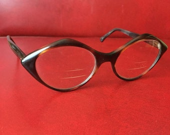 Vintage 1950's Liberty Eyeglasses, Tortoise Shell - 5-1/2 Glasses Frames - Made in the USA