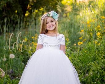 NEW! The Sophia Dress in White - Flower Girl Tutu Dress