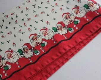 Tea Towel - Retro Santa Christmas Towel