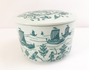 Vintage Box Danish Nymolle Art Faience Pottery Scandinavian Ceramic Made in Denmark Limited Edition