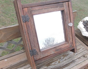 Handmade-Rustic-Oak-Barnwood-Medicine-or-Spice-Cabinet