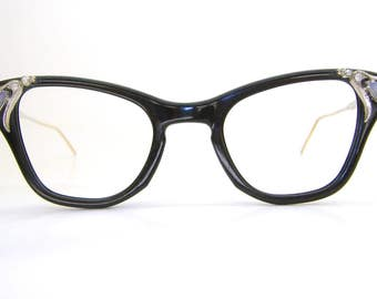 Vintage 40s B&L Cat Eye Frame Retro Eyeglasses or Sunglasses Frame 12K Gf