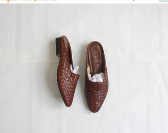 25% SALE woven leather mules size 7 1/2