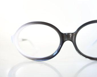 1960s Mod Eyeglasses Womens Black White Mid Century Modern Retro Classic Vintage Glasses Deadstock NOS Brand New Italy Italian European