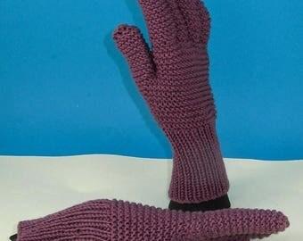 50% OFF SALE Instant Digital File PDF Download knitting pattern only - Garter Stitch Gloves pdf download knitting pattern