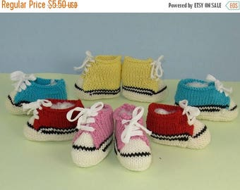 50% OFF SALE madmonkeyknits - Baby Basketball Boots & Sneakers Booties Bootees pdf knitting pattern - Instant Digital File pdf download knit