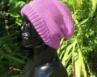 50% OFF SALE Instant Digital File pdf download Knitting Pattern- Chunky Merino Slouch hat pdf download knitting pattern