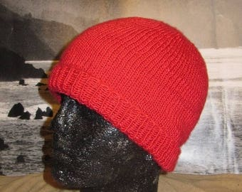 50% OFF SALE Instant Digital File pdf download knitting pattern only madmonkeyknits Simple Silk Beanie hat pdf knitting pattern