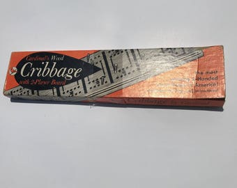 Vintage Cribbage Board Cardinal Industries 1960's