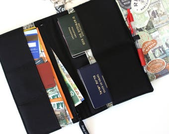 Family Passport Holder - Family Travel Wallet - Family Passport Cover - Travel Document Holder - Boarding Pass Wallet  Large Passport Holder