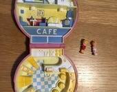 Vintage 1989 Polly Pocket Polly's Cafe - Complete Set