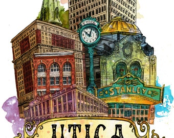 Utica New York, Utica NY, Stanley Theater, FX Matt Brewery, Utica Club, Utica Art
