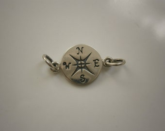 Compass Charm, Sterling Silver Charm