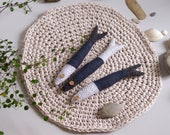 3 linen fishes. Ready to ship